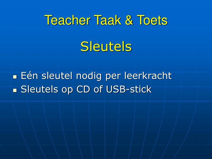 Teacher Taak & Toets
