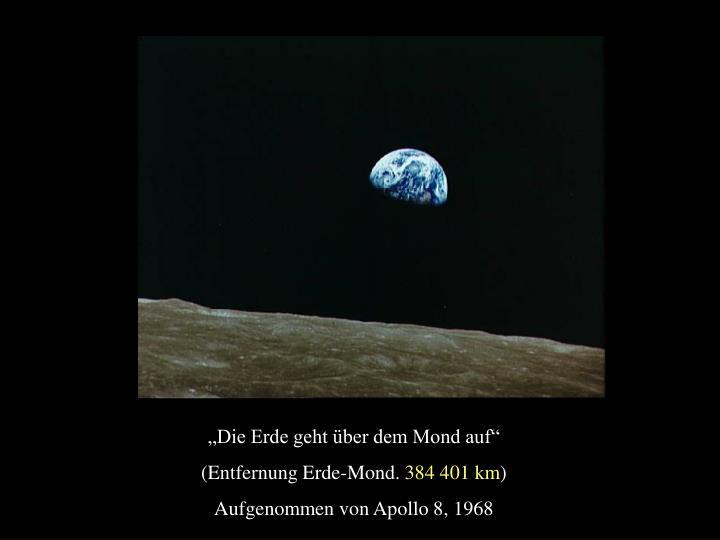 """""""Die Erde geht über dem Mond auf"""""""