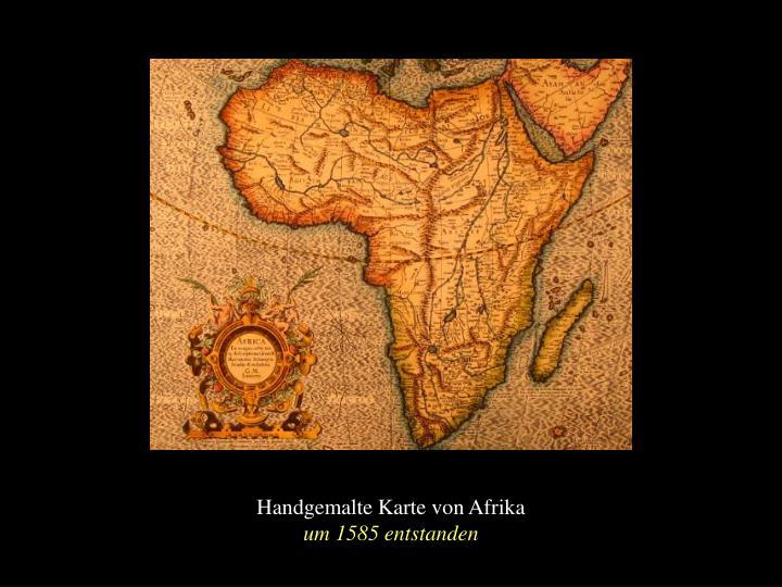 Handgemalte Karte von Afrika