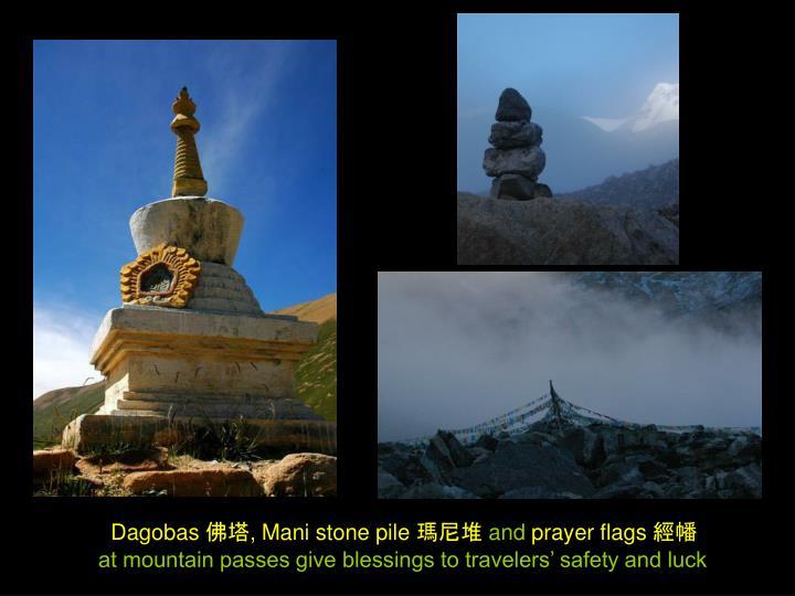 Dagobas 佛塔, Mani stone pile 瑪尼堆