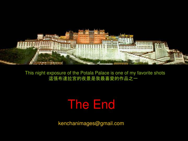 This night exposure of the Potala Palace is one of my favorite shots