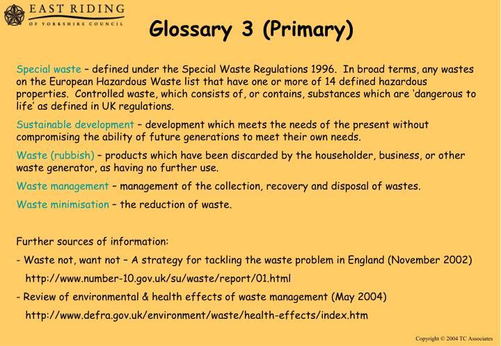 Glossary 3 (Primary)