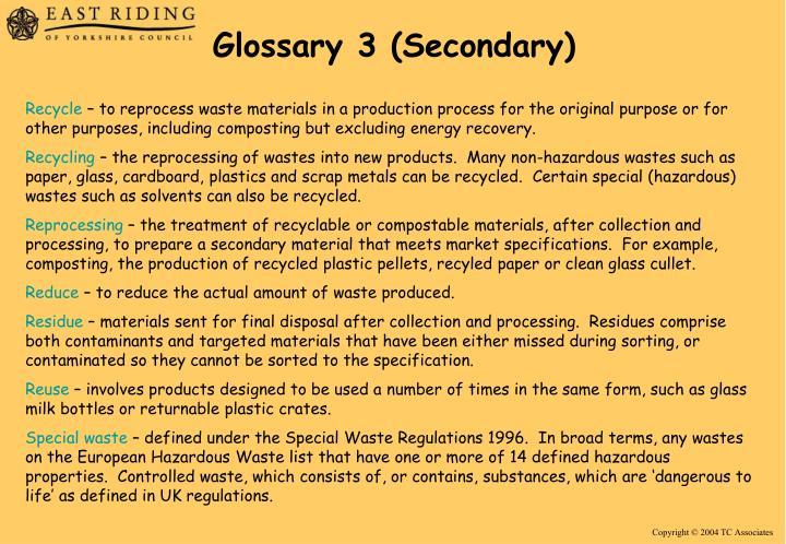 Glossary 3 (Secondary)