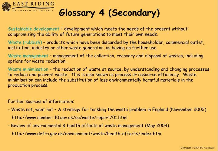 Glossary 4 (Secondary)