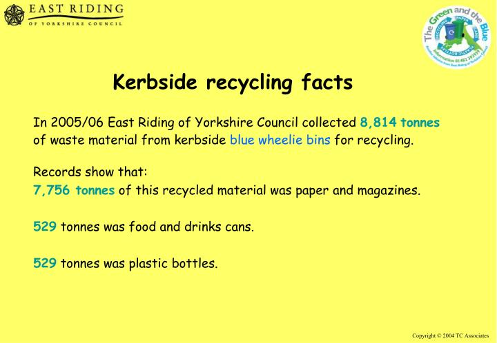 Kerbside recycling facts