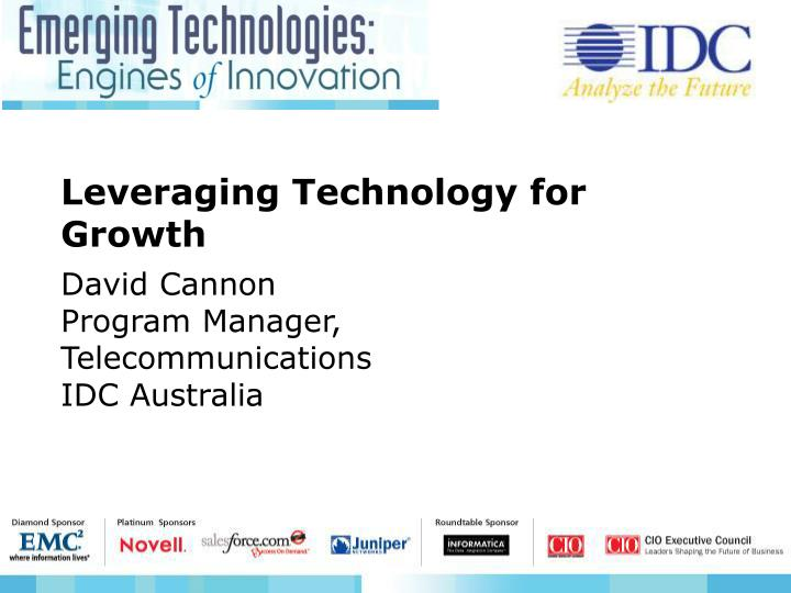 Leveraging Technology for Growth