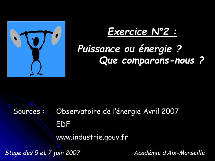 Exercice N°2 :