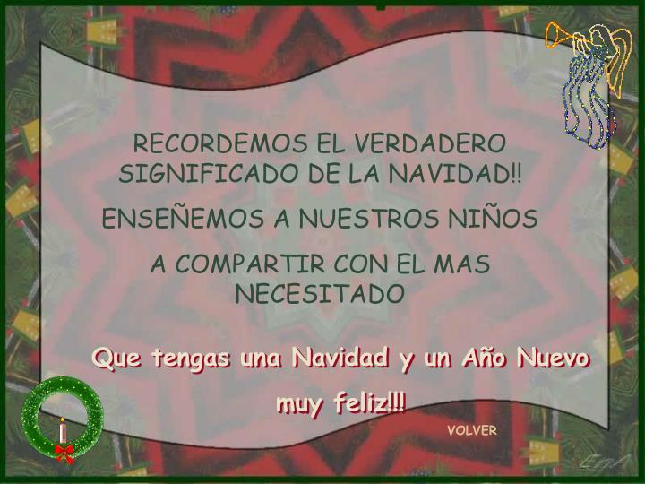 RECORDEMOS EL VERDADERO SIGNIFICADO DE LA NAVIDAD!!