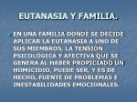 eutanasia y familia