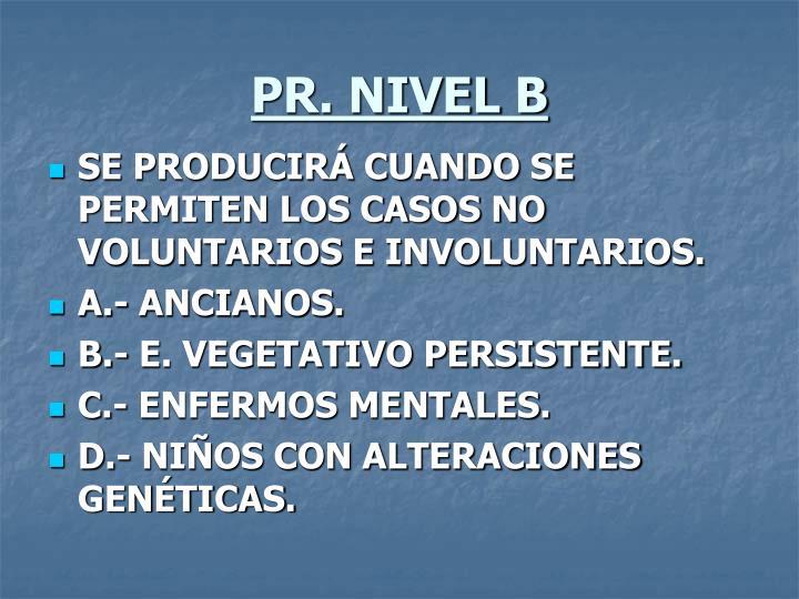 PR. NIVEL B
