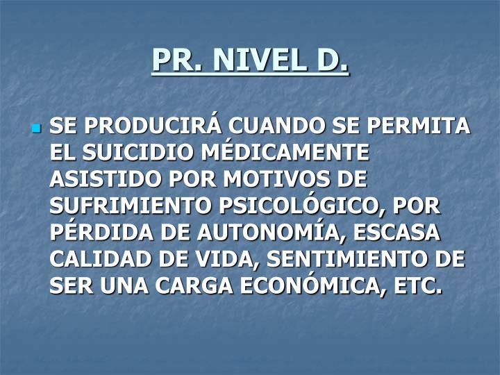 PR. NIVEL D.
