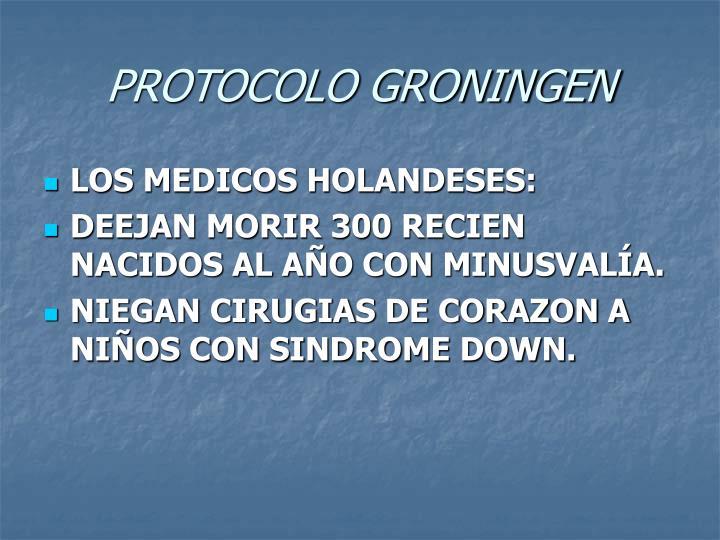 PROTOCOLO GRONINGEN