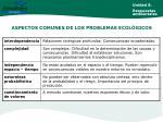 aspectos comunes de los problemas ecol gicos