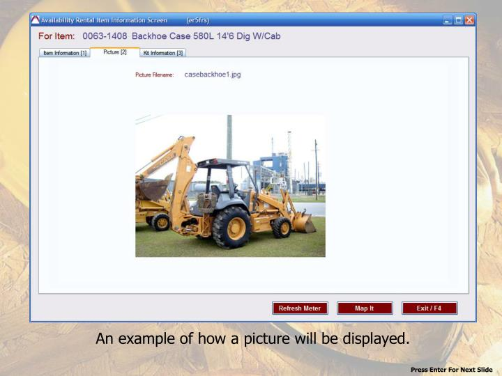 An example of how a picture will be displayed.