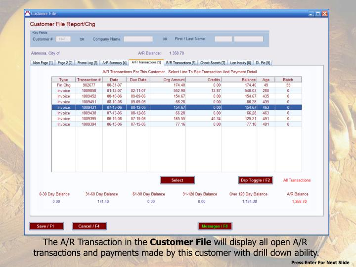 The A/R Transaction in the