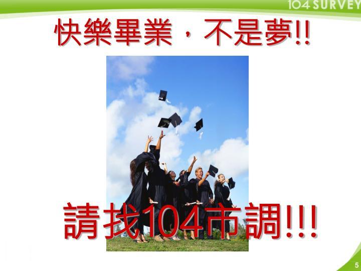 快樂畢業,不是夢