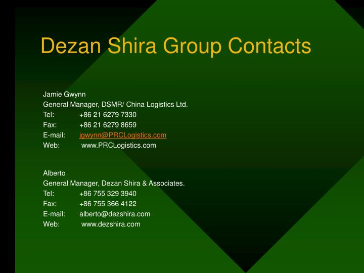 Dezan Shira Group Contacts