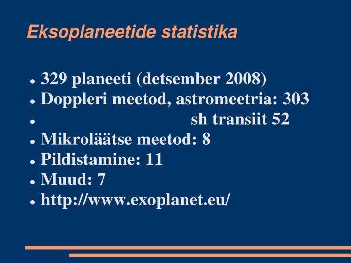 Eksoplaneetide statistika