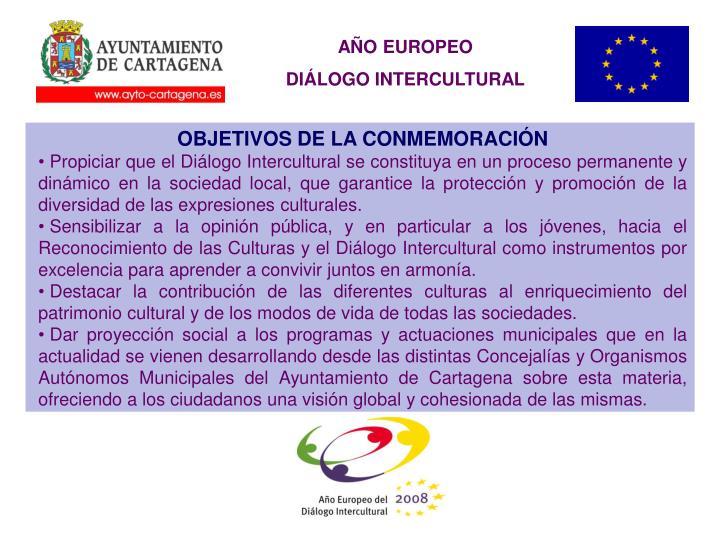 OBJETIVOS DE LA CONMEMORACIÓN