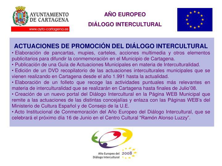 ACTUACIONES DE PROMOCIÓN DEL DIÁLOGO INTERCULTURAL
