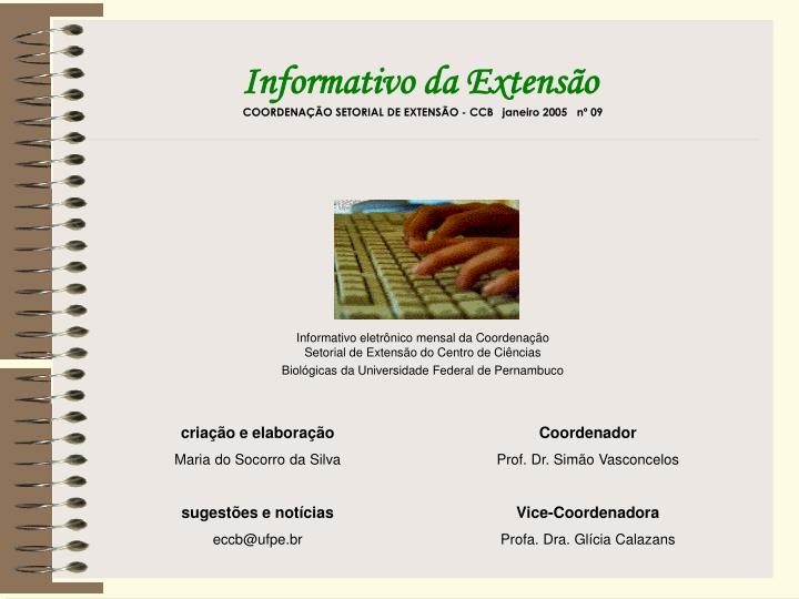 Informativo da Extensão