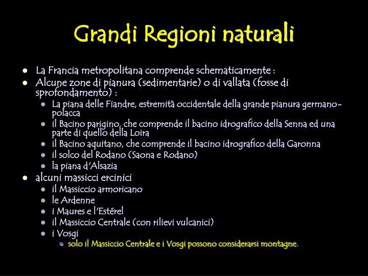 Grandi Regioni naturali