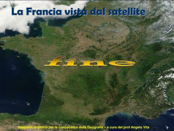 La Francia vista dal satellite