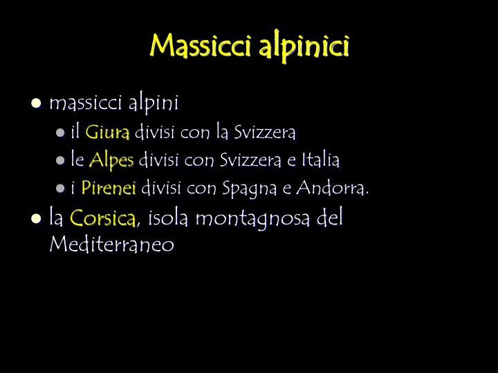 Massicci alpinici