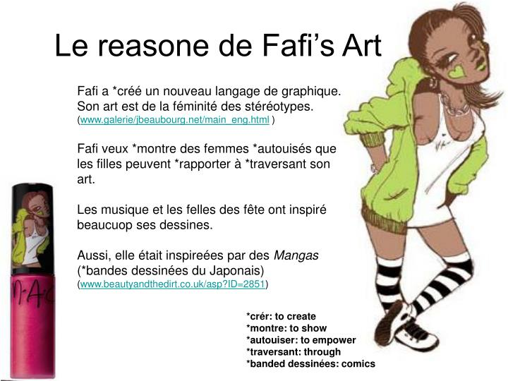 Le reasone de Fafi's Art