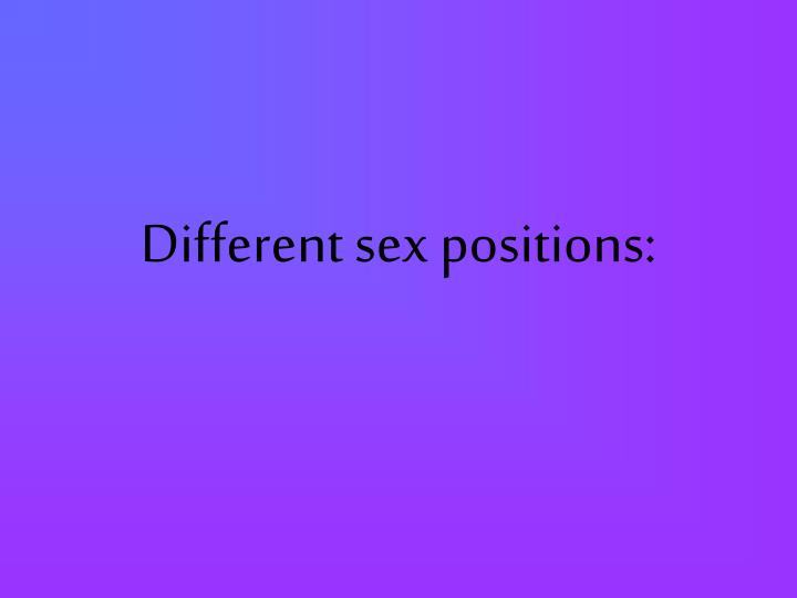 What Are Different Sex Positions 2