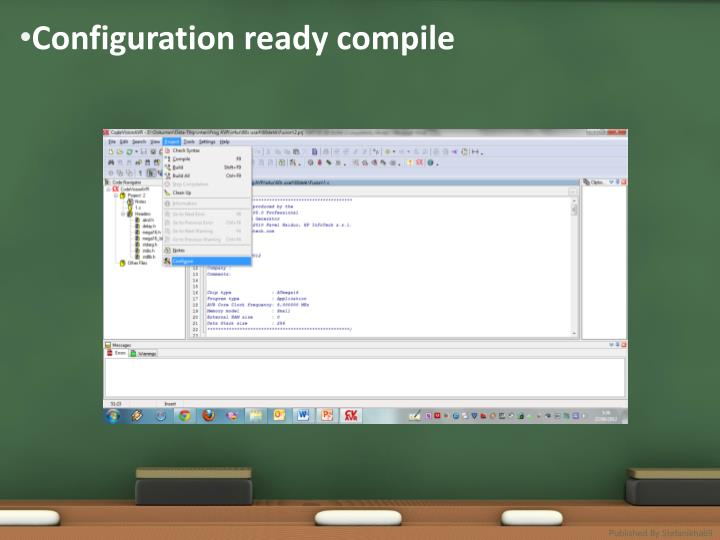 Configuration ready compile