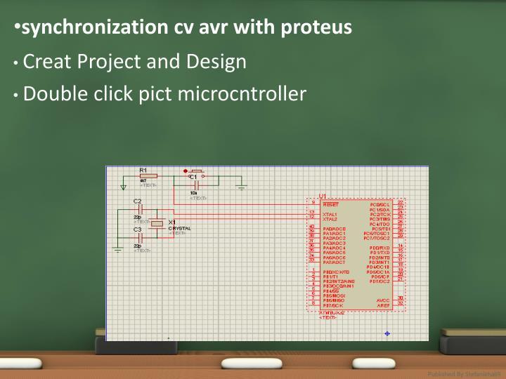 synchronization cv avr with proteus