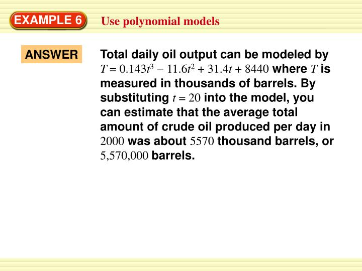 Total daily oil output can be modeled by