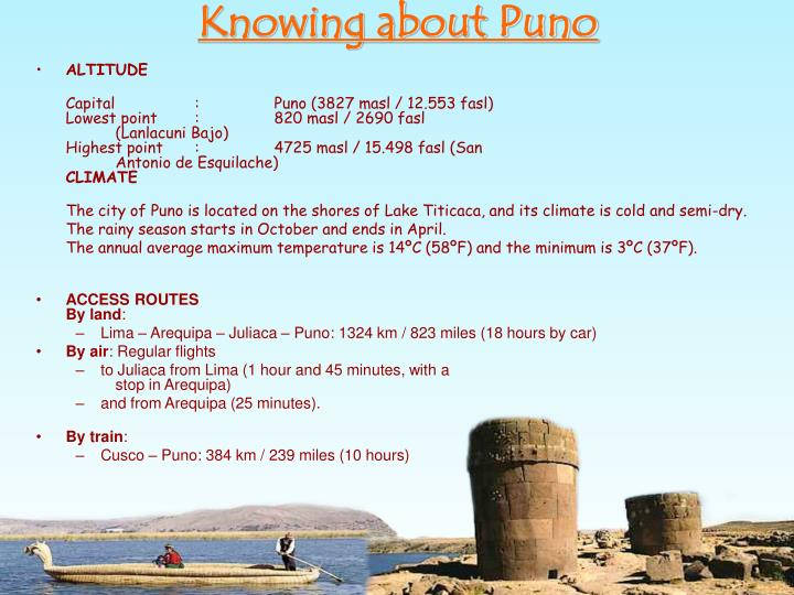 Knowing about Puno