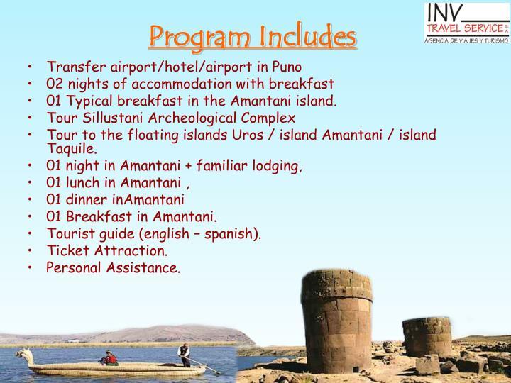 Program Includes