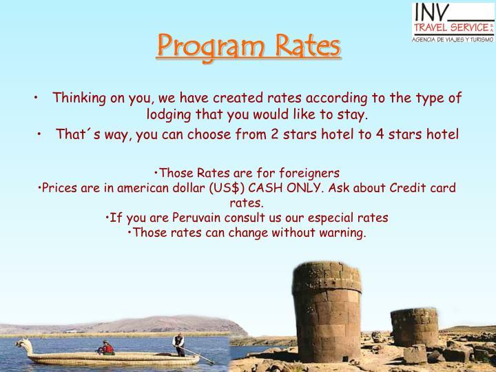 Program Rates