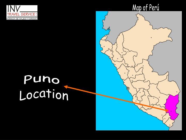 Map of Perú