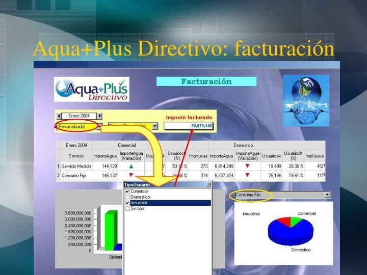 Aqua+Plus Directivo: facturación