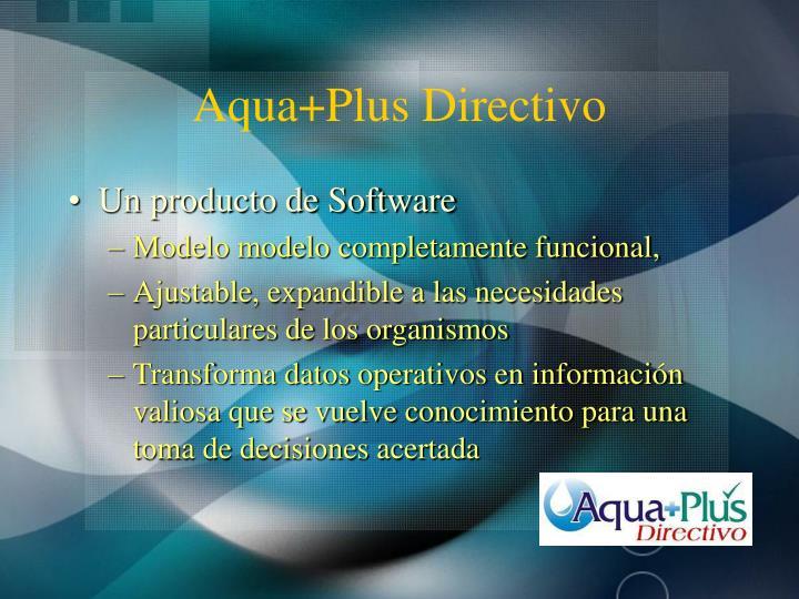 Aqua+Plus Directivo