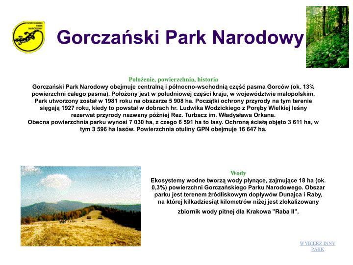 Gorczaski Park Narodowy