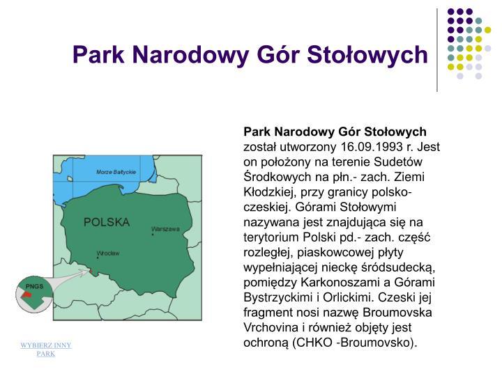 Park Narodowy Gr Stoowych