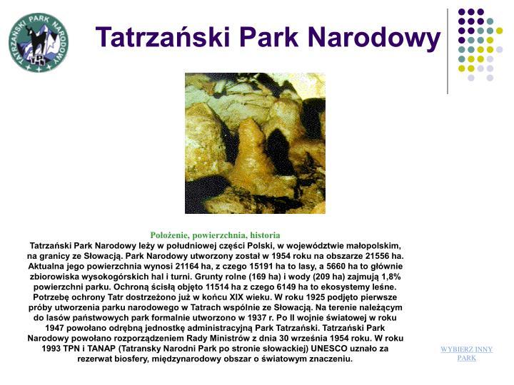 Tatrzaski Park Narodowy