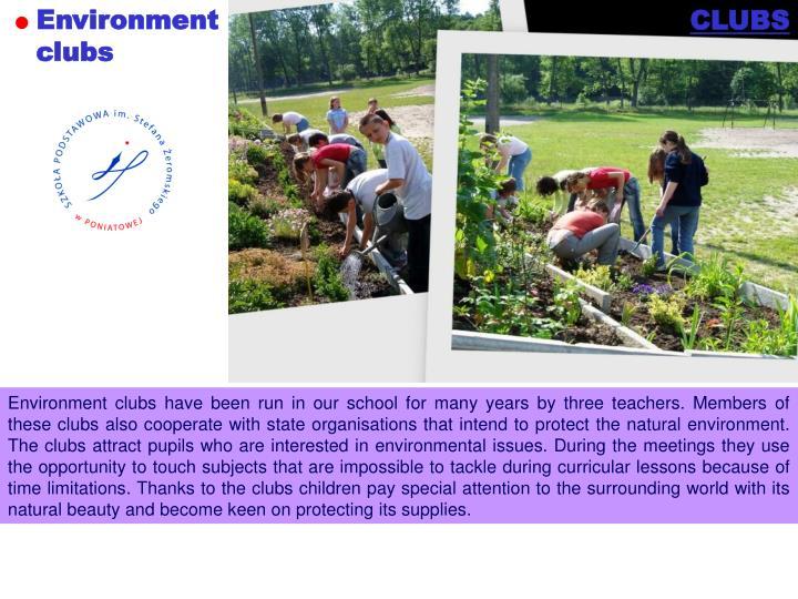 Environment clubs