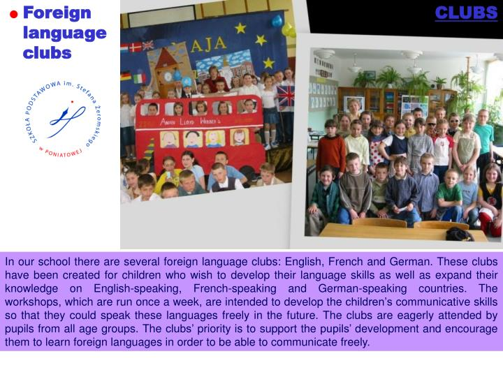 Foreign language clubs