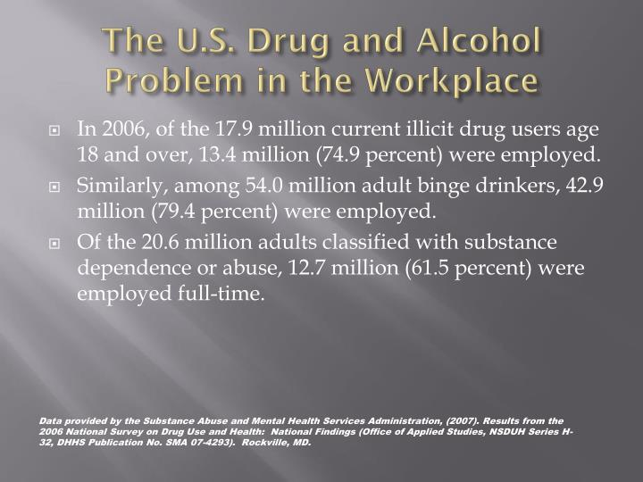 The U.S. Drug and Alcohol Problem in the Workplace