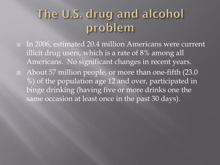 The U.S. drug and alcohol problem