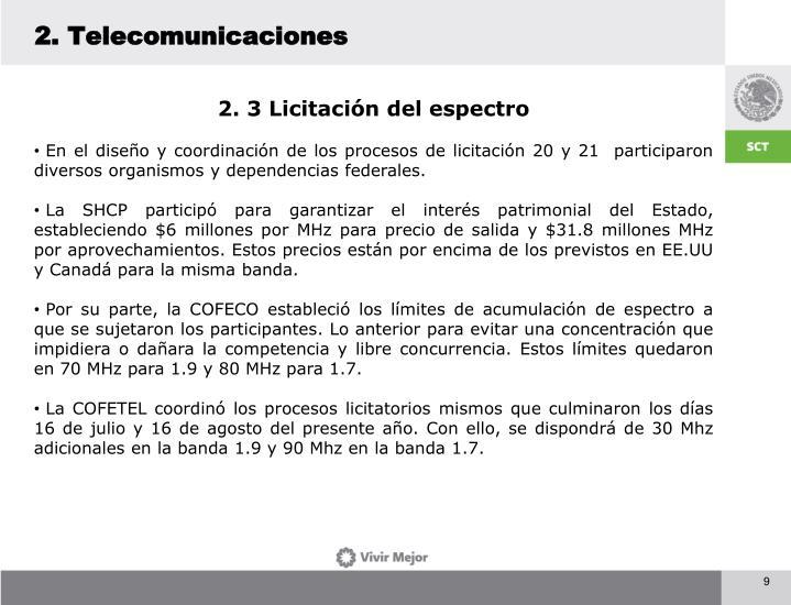 2. Telecomunicaciones
