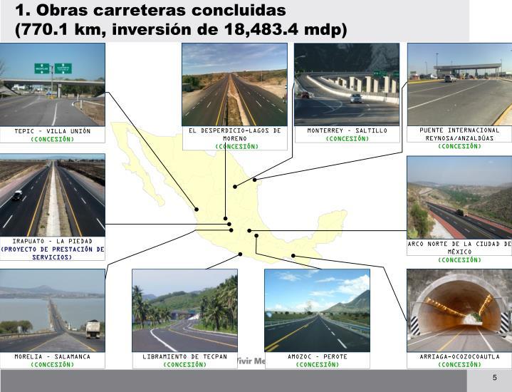 1. Obras carreteras concluidas