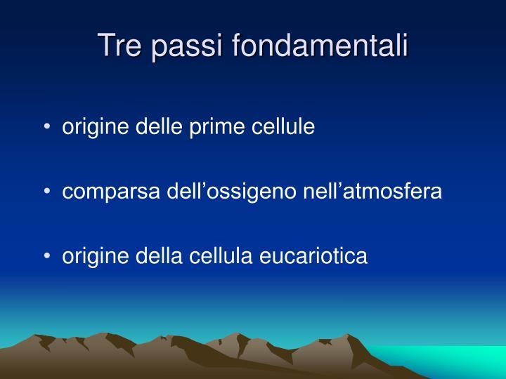 Tre passi fondamentali