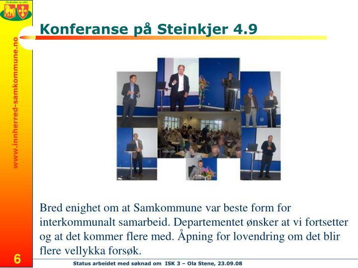 Konferanse på Steinkjer 4.9